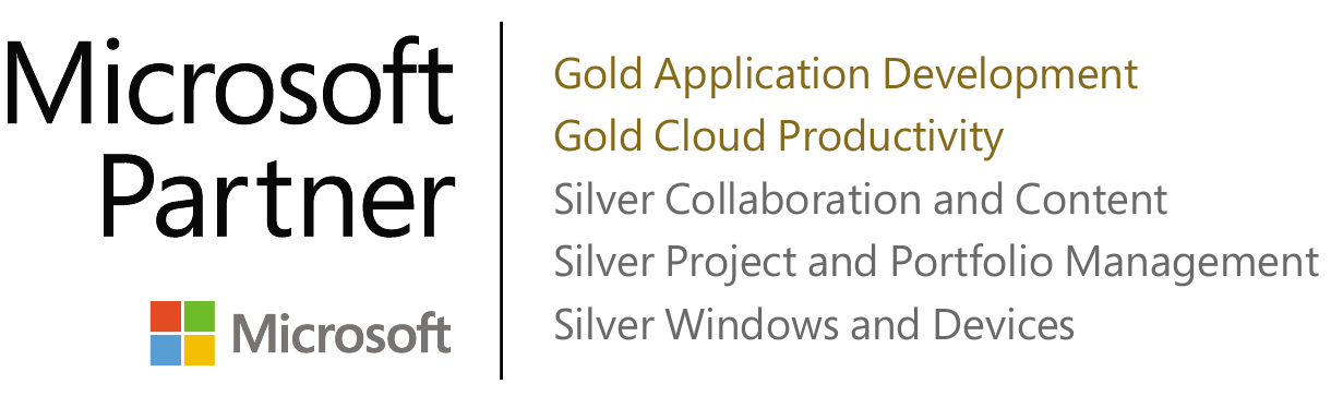Microsoft Partner Gold Cloud Productivity and Silver Application Development